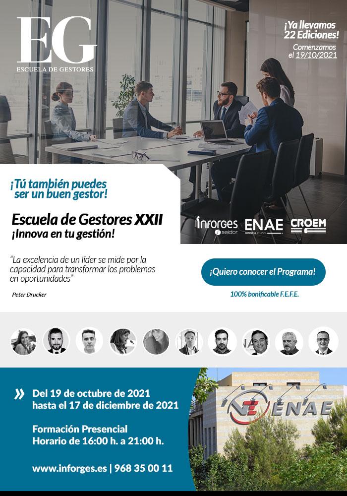 19|10|2021 Escuela de Gestores XXII ¡Innova en tu gestión!- Inscríbete