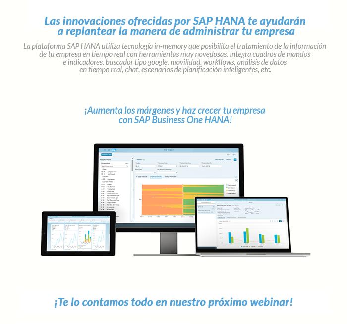 Cuerpo Webex SAP Businnes One - Innovación HANA