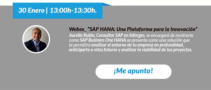 Webex SAP Businnes One - Innovación HANA
