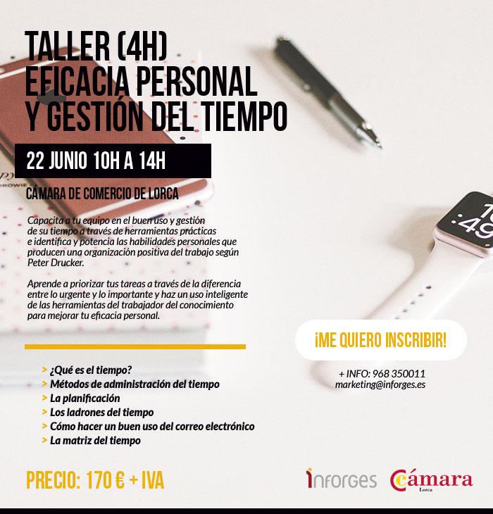 Inscripción taller de eficacia personal y gestión del tiempo