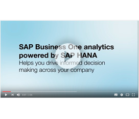 Dashboard Analysis con SAP Business One powered ba SAP HANA