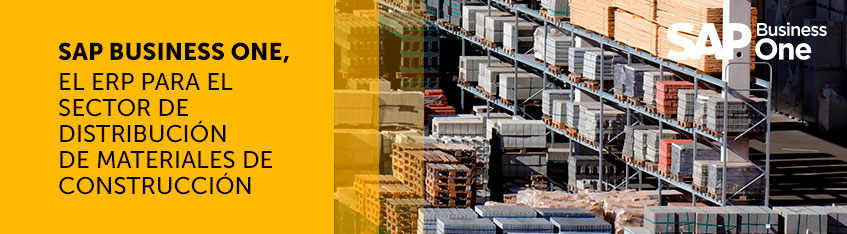 SAP Business One, el ERP para el sector de distribución de materiales de construcción