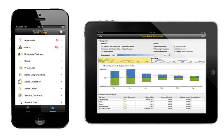 SAP Business One iPhone iPad