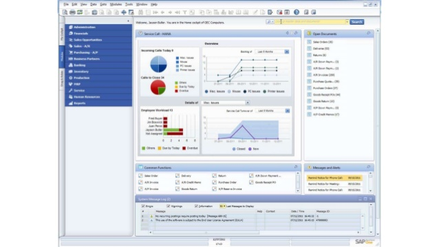 pantalla de HANA Analytics en SAP